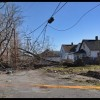 Strong winds caused citywide damage to power lines and trees