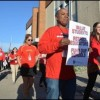 Teachers hold 'walk-in' to protest state funding of school districts
