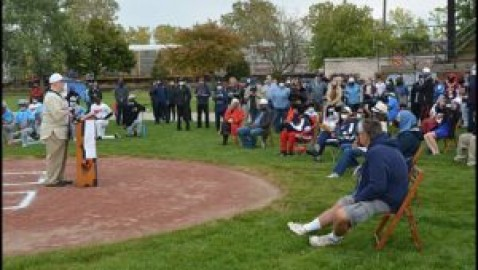 Dedication ceremony held for new baseball field