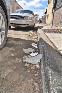 Now that the snow has mostly melted away, litter can be seen everywhere throughout the city.