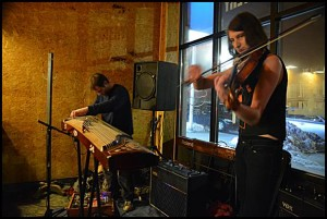 Music fans enjoy the exotic sounds of St. Zita at Rock City Eatery.