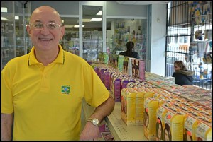 Chet Kasprzak has owned Hamtramck Drugs on Jos. Campau for 15 years. He believes in personal interaction with his customers.