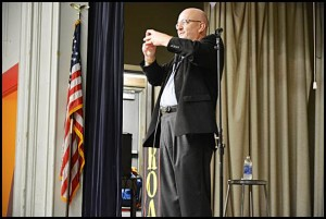 When Al Ulman is not entertaining corporate clients with his humor and magic show, he is teaching school kids the message of respect and how to deal with bullying. He recently brought his message to Dickinson East Elementary School.