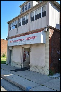 The New Al-Madeena Grocery, located at 2220 Caniff, was one of six Hamtramck markets raided today by federal and state investigators in connection with food stamp fraud.