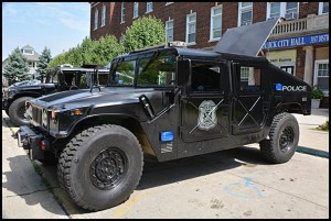 Many communities, including Hamtramck, received free used military vehicles during the past few years. Critics have said this has made police departments look like an occupational army force.