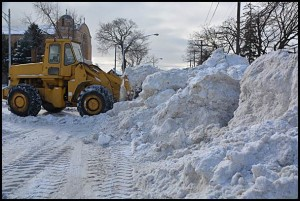 Emergency Manager Cathy Square has given up on looking for a new contractor for snow plowing service. Platinum Landscaping will once again provide that service.