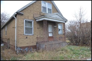 This dilapidated house on Denton is slated to be demolished thanks to a federal grant the city won.