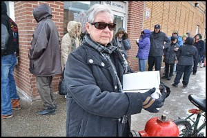 Paczki lovers waited up to two hours outside New Palace Bakery to purchase their pre-Lenten treats.