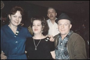 Fun at the old Port Bar: From left to right, Mimi Kent, unknown patron, Al Kent in background and Stanley Malenko.