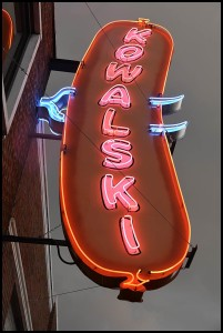 Hamtramck's most iconic neon sign has recently been refurbished and lights the way to the Kowalski Sausage Co., which is celebrating its 95th year in business.