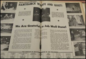 The former Citizen newspaper featured a two-page spread on the city's reaction to the 1967 Detroit riot.