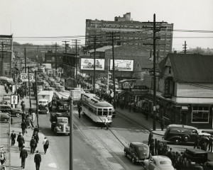 The Baker Streetcar line was once a popular streetcar route in Hamtramck. It ran down Jos. Campau.