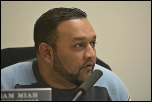 Councilmember Anam Miah lost property he owned in 2015 for unpaid taxes. A Hamtramck resident said that according to the city charter he is a defaulter and his election that year should be voided.