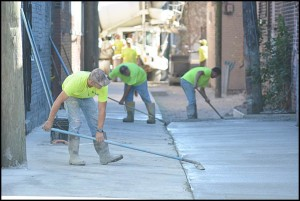 This year's alley repaving program started on the eastside of Jos. Campau, from Caniff to Belmont. Two more alley sections will be repaved.