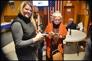 Mayor Karen Majewski (right) has won her fourth term in office in Tuesday's General Election.