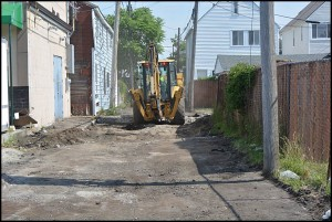 Alley repairs began last week. This year the city will concentrate on alleys along Conant and Jos. Campau.