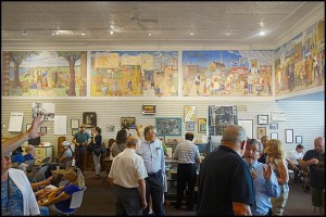 A large turnout of residents and guests attended the mural opening.